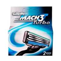 Gillette Mach 3 Turbo кассеты 2 шт 1/10